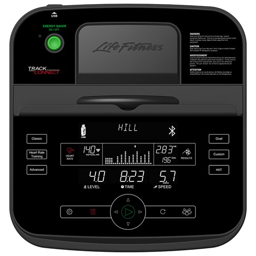 life fitness e1 elliptical console