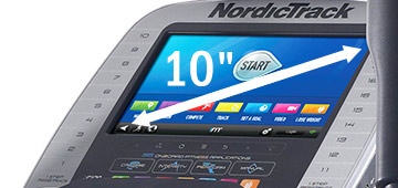 nordictrack act 10 elliptical review - console