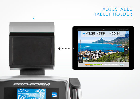 proform 520E elliptical trainer review tablet holder