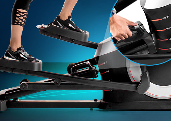 proform 520E elliptical review - incline