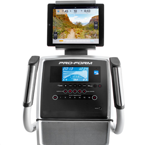 proform 520E elliptical review - console