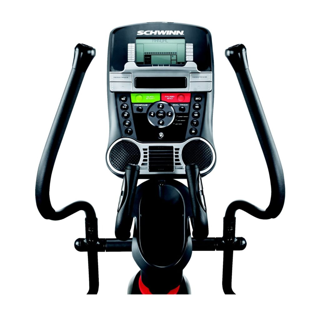 schwinn 430 elliptical review - console