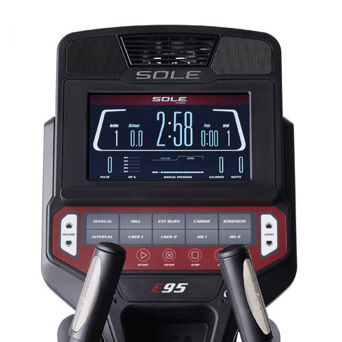sole e95 elliptical review - console