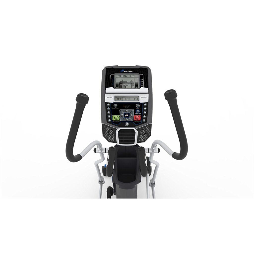 nautilus E614 elliptical review - console