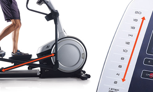 nordictrack c 9.5 elliptical review incline
