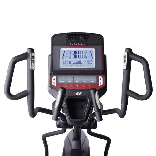 sole e55 elliptical review - console